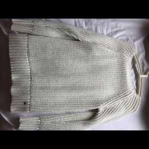American eagle white sweater